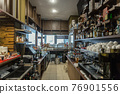 Modem interior of cafe with assorted appliances 76901556