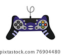 Joystick. Cartoon video game console. Entertainment play technology. Gamepad vector icon. Game-play console isolated on white background 76904480