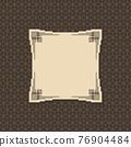 Art deco frame. Artwork graphic pattern culture. Orante wedding invintation. Vintage retro style banner or label design.Vector design object 76904484