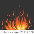 燃燒的火焰 76912026