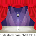 Stage with microphone 76913914