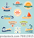 Summer element sticker 76913915