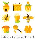 Honey icons set 76913916