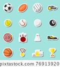 Sports stickers set 76913920