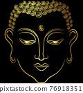 Golden face of  buddha 76918351
