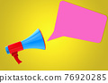 Megaphone with bubble chat 76920285