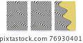 Set of covers with abstract pattern. Optical 76930401