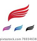 Falcon wing  Logo Template vector 76934638