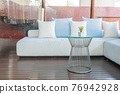 beautiful and comfortable pillows on sofa 76942928