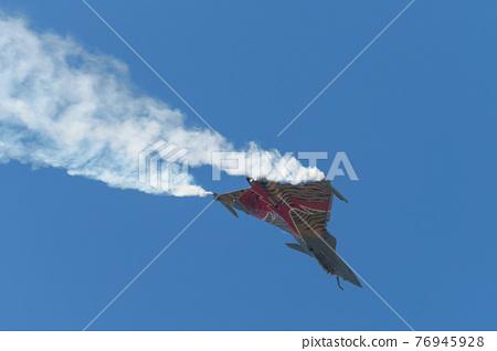 flying, fighter plane, blue sky 76945928