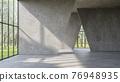 Modern loft style empty space interior 3d render 76948935