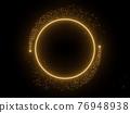 Golden ring border with black background 3d render 76948938