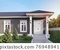 Front house entrance 3d render 76948941