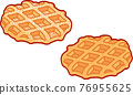Cartoon Belgian Liege waffles 76955625