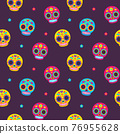 Mexican sugar skulls pattern 76955628
