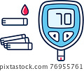 Blood glucose meter illustration 76955761