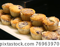 muffin dessert in paper cupcake holder 76963970