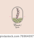 Vector hand drawn of flower logo 76964097