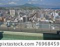 天空和大分市的露天浴池(朝別府) 76968459