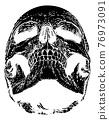 Skull Grim Reaper Vintage Woodcut Illustration 76973091