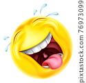 Laughing Emoticon Cartoon Face Icon 76973099