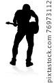 Musician Guitarist Silhouette 76973112