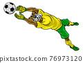 Bulldog Soccer Football Player Sports Mascot 76973120