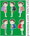 elementary student, primary school child, primary school student 76975165