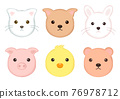 動物 人臉 臉部 76978712