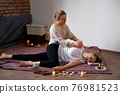 Relax and enjoy in spa salon, getting thai massage by professional masseur. 76981523