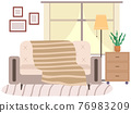 Flat design interior. Planning and arrangement of furniture in apartment. Living room. Home lifestyle. Style house 76983209