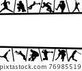 棒球 剪影 框架 76985519