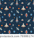 Pixel Art Inter Galactic Adventure Space Pattern 76986174