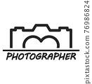 camera logo camera sign vector 76986824