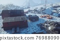 science station in Antarctica at summer 76988090