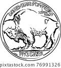 Vector American Buffalo gold coin 76991326