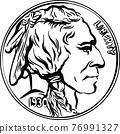 Vector American Buffalo gold coin 76991327