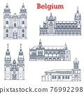 Belgium landmarks, cathedral churches architecture 76992298
