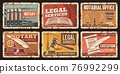 Notary service, notarial office rusty metal plates 76992299