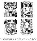 Ram, buffalo and bison bull hunting apparel print 76992322