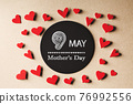 9 May Mothers Day message with small hearts 76992556