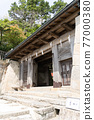 chinese-style gate, tower gate, two-story gate 77000380