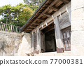 chinese-style gate, tower gate, two-story gate 77000381