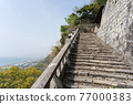 chinese-style gate, tower gate, two-story gate 77000383
