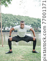 Outdoor exercise man athlete 77001371