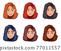 Woman face vector design illustration isolated on white background 77011557