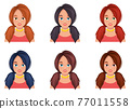 Woman face vector design illustration isolated on white background 77011558