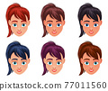 Woman face vector design illustration isolated on white background 77011560
