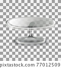 realistic vector cake stand in glass 77012509