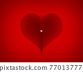 heart on red background 3d rendering 77013777